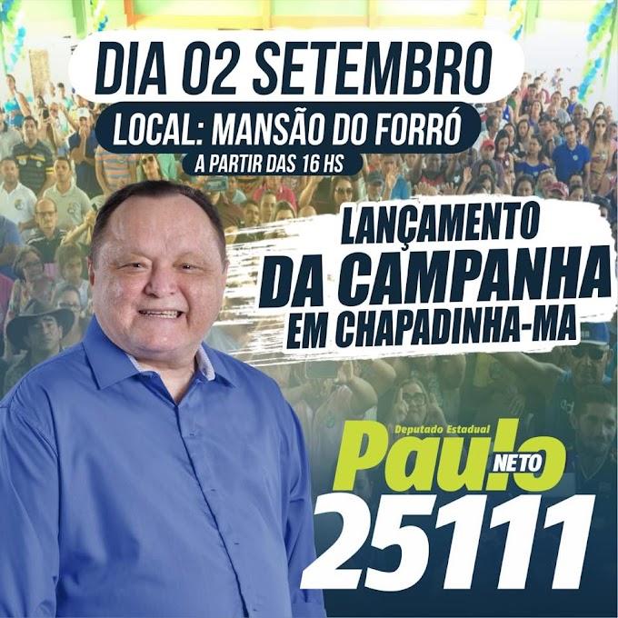 Deputado Paulo Neto, prefeito Magno Bacelar reforçam convite para ato de campanha, que acontece neste domingo, dia 02, na Mansão do Forró