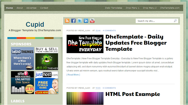 Wordpress and Blogger Theme Template