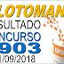 Resultado da Lotomania concurso 1903 (21/09/2018) ACUMULOU!!!