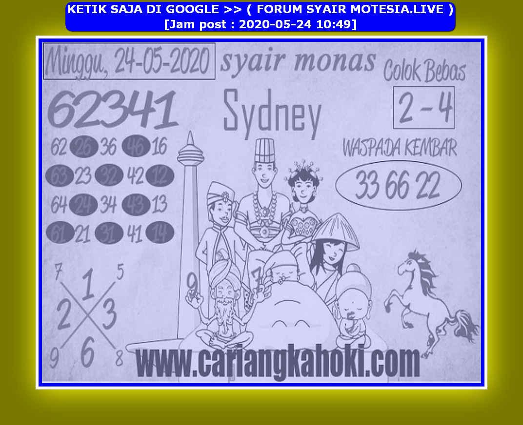Kode syair Sydney Minggu 24 Mei 2020 79