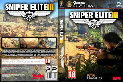 Jogo Sniper Elite 3 PC DVD Capa
