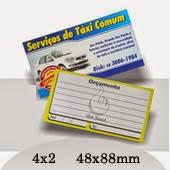 Cartão de Visita 4x2 - Frente Colorido Verso Preto e Amarelo