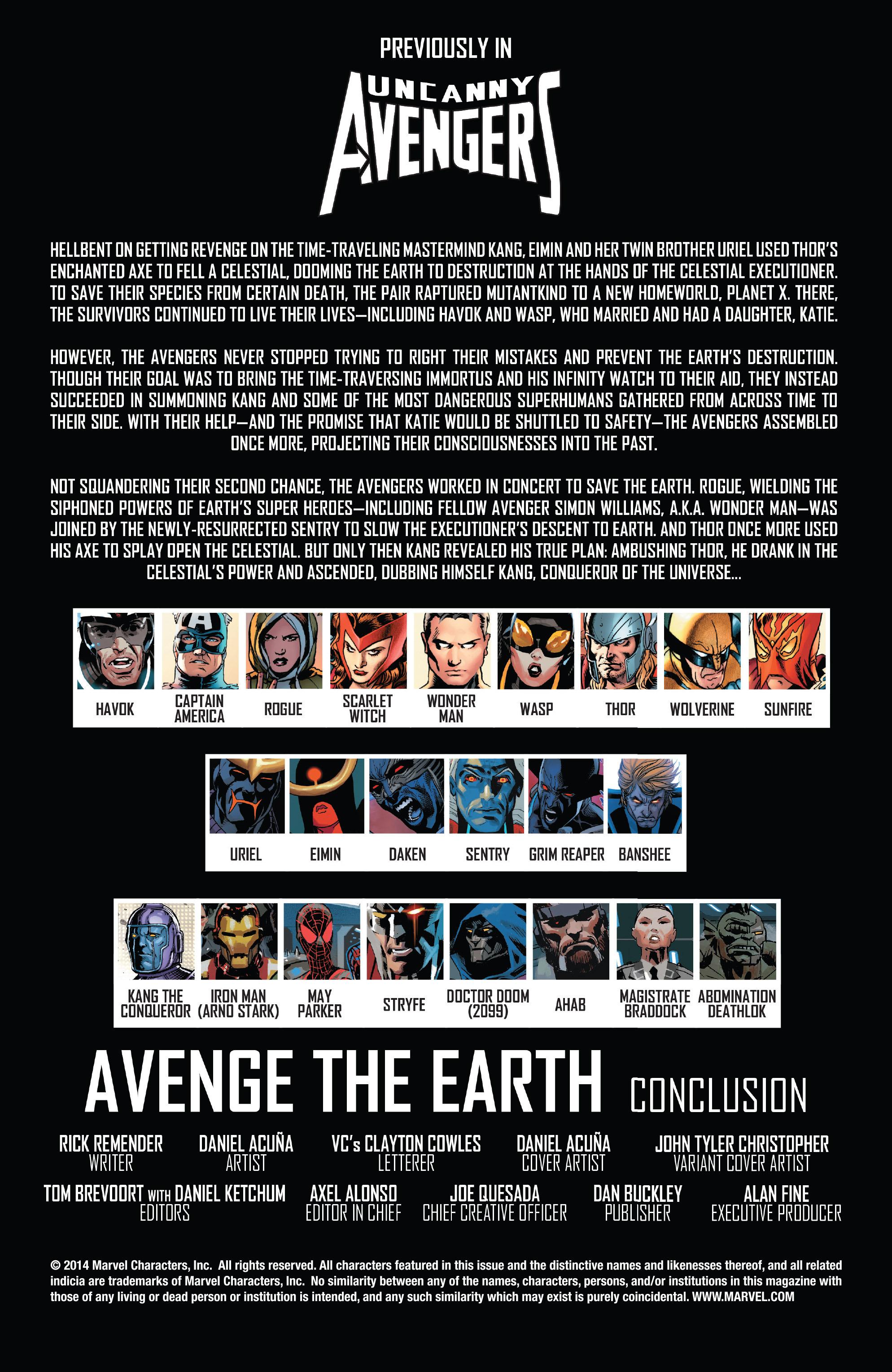 Read online Uncanny Avengers (2012) comic -  Issue #22 - 2
