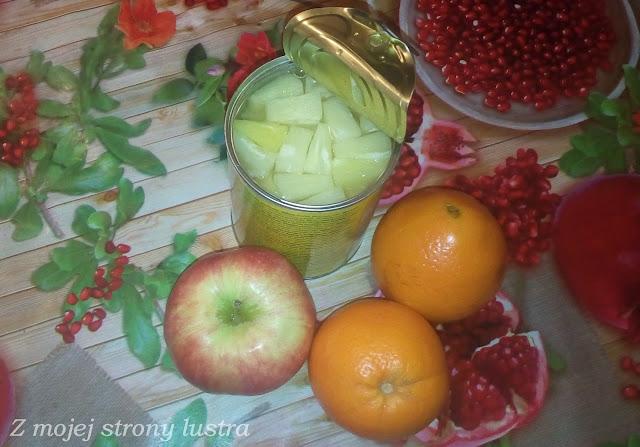 ananas w puszce jabłko pomarańcze