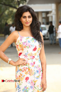 Actress Shamili Stills in Floral Short Dress at Sree Ramaraksha Song Launch 0064