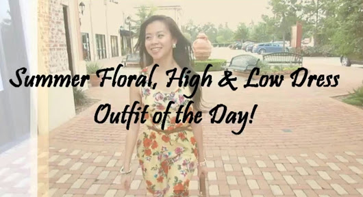 Floral High & Low Dress OOTD VIDEO!!!