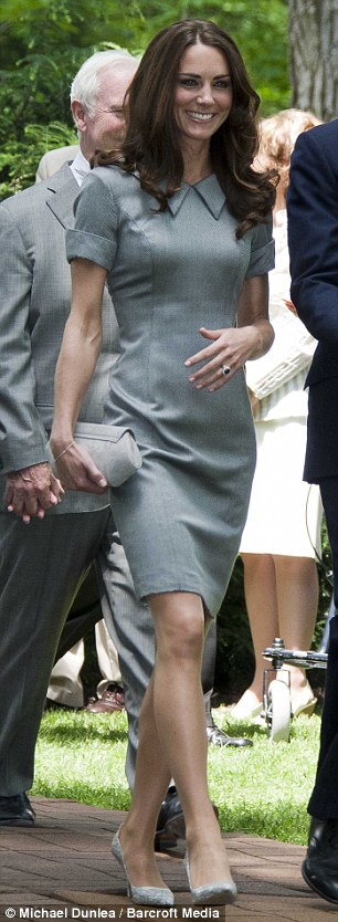 a24bfa3283 Kate wore this grey dress by French born designer