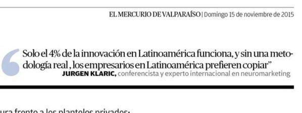el 4% de las innovaciones en Latinoamérica funciona aunque sin una metodología real, el restante de los empresarios (96%!!!!) prefieren copiar
