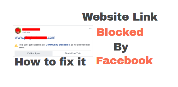 how to share any blocked website link with facebook