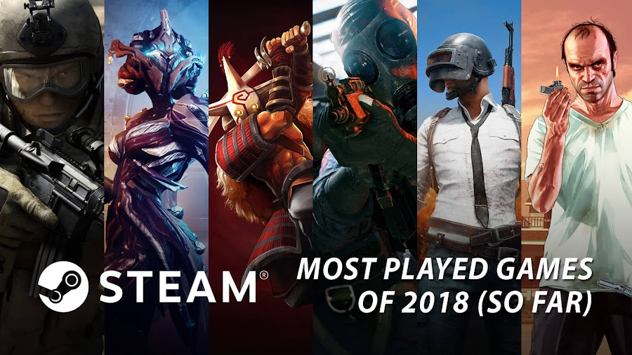 most played games 2018 steam