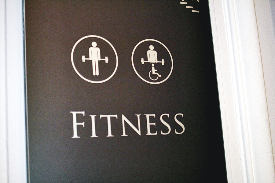 fitness disabled people room