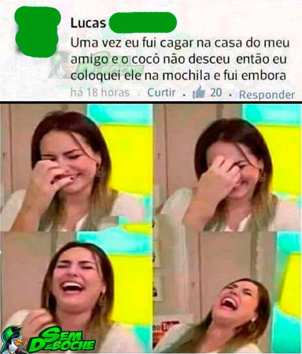 CAGADA NA CASA DO AMIGO