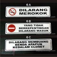 label pintu