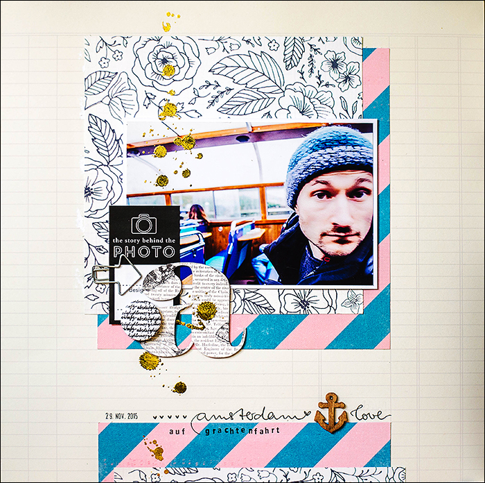 Stephanie Berger - Scrapbooking Layout - Amsterdam Love