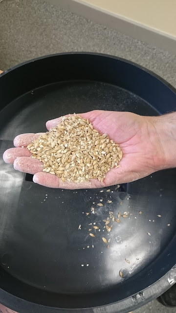 badly crushed grain