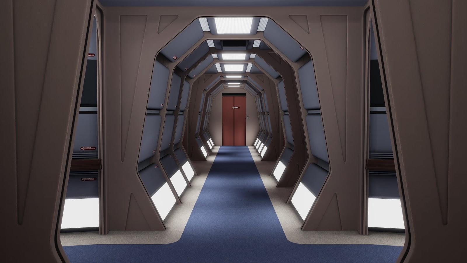 Rigel VII: Refit Enterprise Corridors |Uss Enterprise Corridors