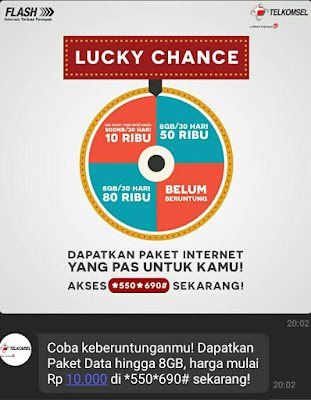 kali ane akan membagi warta perihal  Promo Telkomsel Terbaru Lucky Change