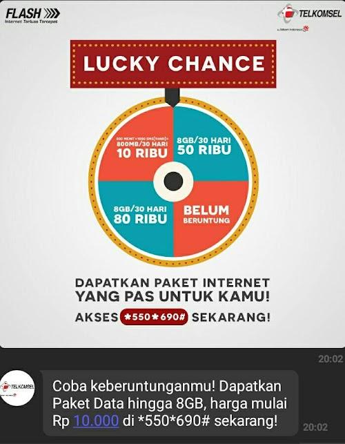 Promo Telkomsel Terbaru Lucky Change