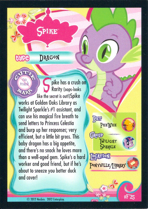 Mlp Spike Trading Cards Mlp Merch