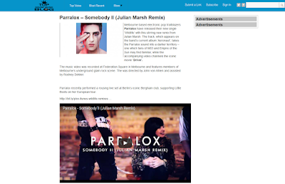 Top House Music Blog article on Somebody II Video (USA)