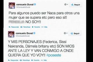 Consuelo Duval se enojo