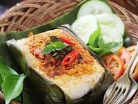 Cara Membuat Nasi Bakar Isi Jamur Ayam dan Sayuran