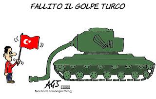 turchia, Erdogan, golpe, colpo di stato, satira, vignetta