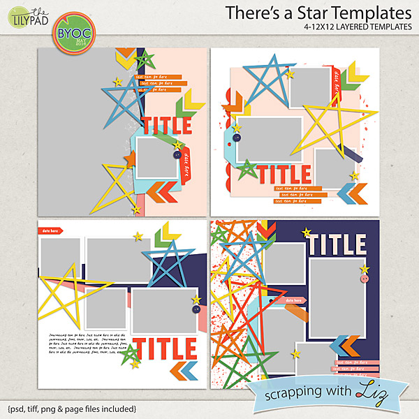 http://the-lilypad.com/store/Theres-a-Star-Digital-Scrapbook-Templates.html