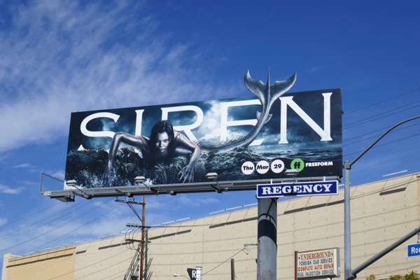 Siren series premiere billboard