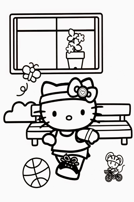 Coloring Pages Hello Kitty Dolphin : Hello kitty coloring pages to print and
