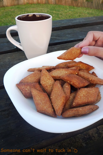 These Indian Style Jaggery diamond shaped biscuits are deep fried and made with whole wheat flour and jaggery, can be enjoyed with a nice cup of tea.