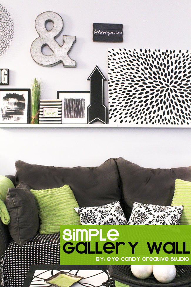 ideas for creating a simple living room gallery wall, black & white decor
