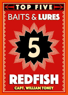 top 5 redfish baits lures in the spread
