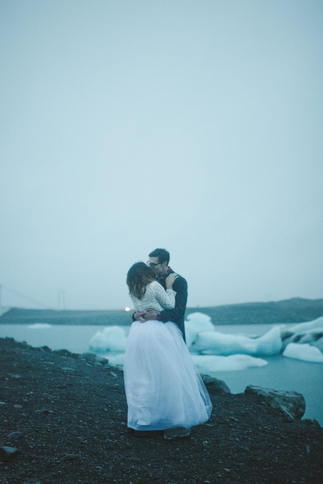 Jökulsárlón, glacial, lagoon, Iceland, wedding, elope, bridal