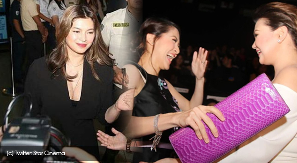 Spotted: Angel Locsin, Marian Rivera attend premiere night of The Unmarried Wife