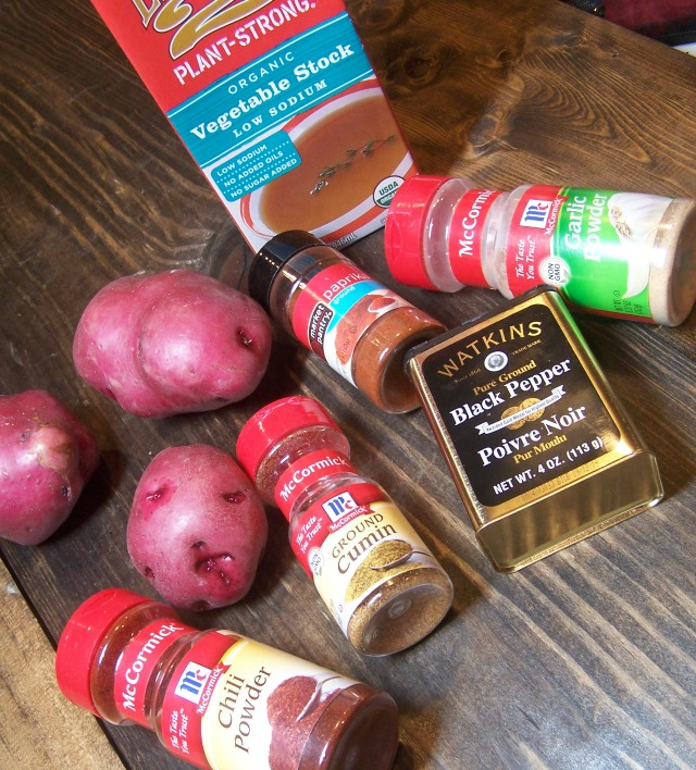 Ingredients are simple pantry staples