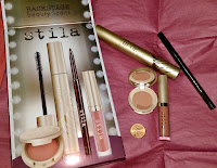 STILA Backstage Beauty Icons Set smudge stick DAMSEL liquid lip DOLCE gold bronzer cream cheek CAMELIA