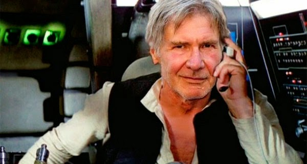 Montaje Harrison Ford es Han Solo de mayor