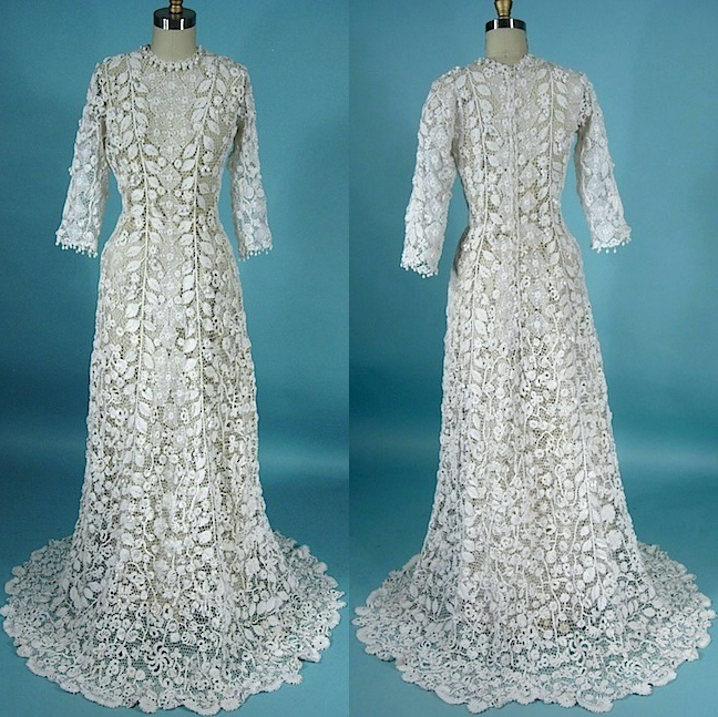 Black And Lace Front White And Black Sides Dresses