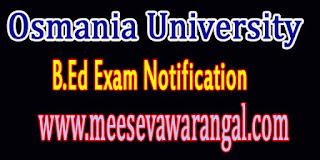 Osmania University B.Ed 2nd Sem / B.Ed Distance Edu Mode Postponed Exam Notification