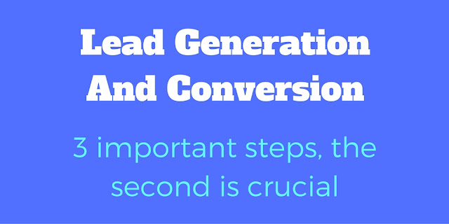 Lead Generation And Conversion  - 3 Important Steps, The Second Is Crucial