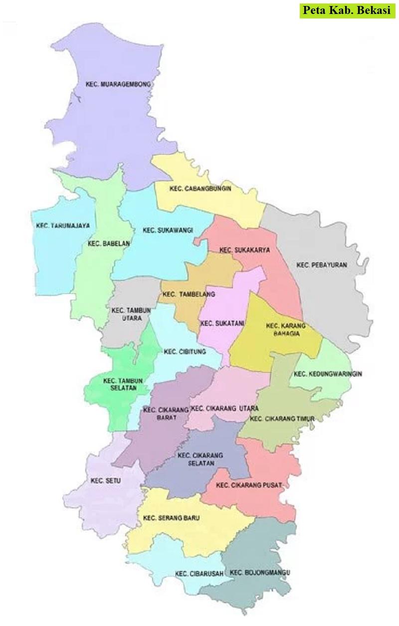 Peta Kabupaten Bekasi