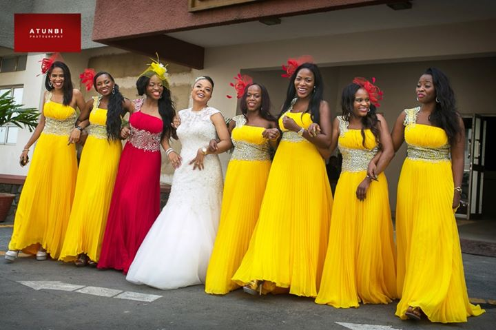 BellaNaija Chief Bridesmaid Dresses In Nigeria - Bridal Train Ideas