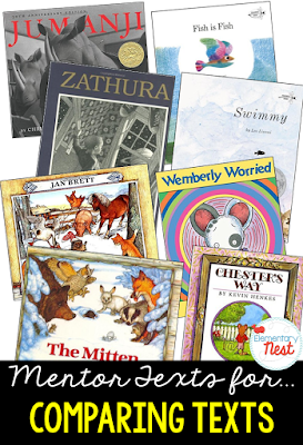 Primary mentor text suggested book list for comparing two texts by the same author- focuses on character, setting, and events in two different stories by one author- RL3.9