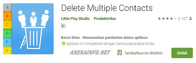 Aplikasi Delete Multiple Contact