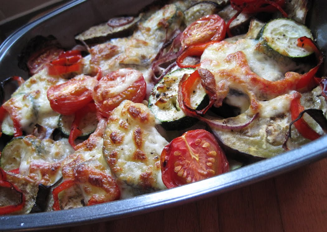 Roasted Vegetables and Mozzarella