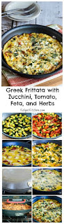 Greek Frittata Recipe with Zucchini, Tomato, Feta, and Herbs [from KalynsKitchen.com]