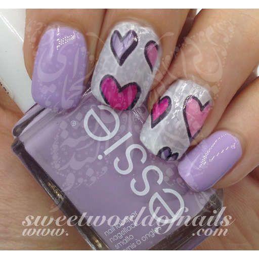 Valentines Impress Nails