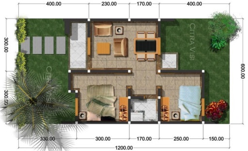 Minimalist Dream House Plan Type 36