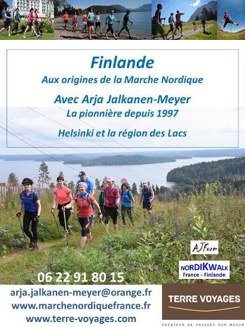 Voyages de Marche Nordique en Finlande avec Arja Jalkanen-Meyer